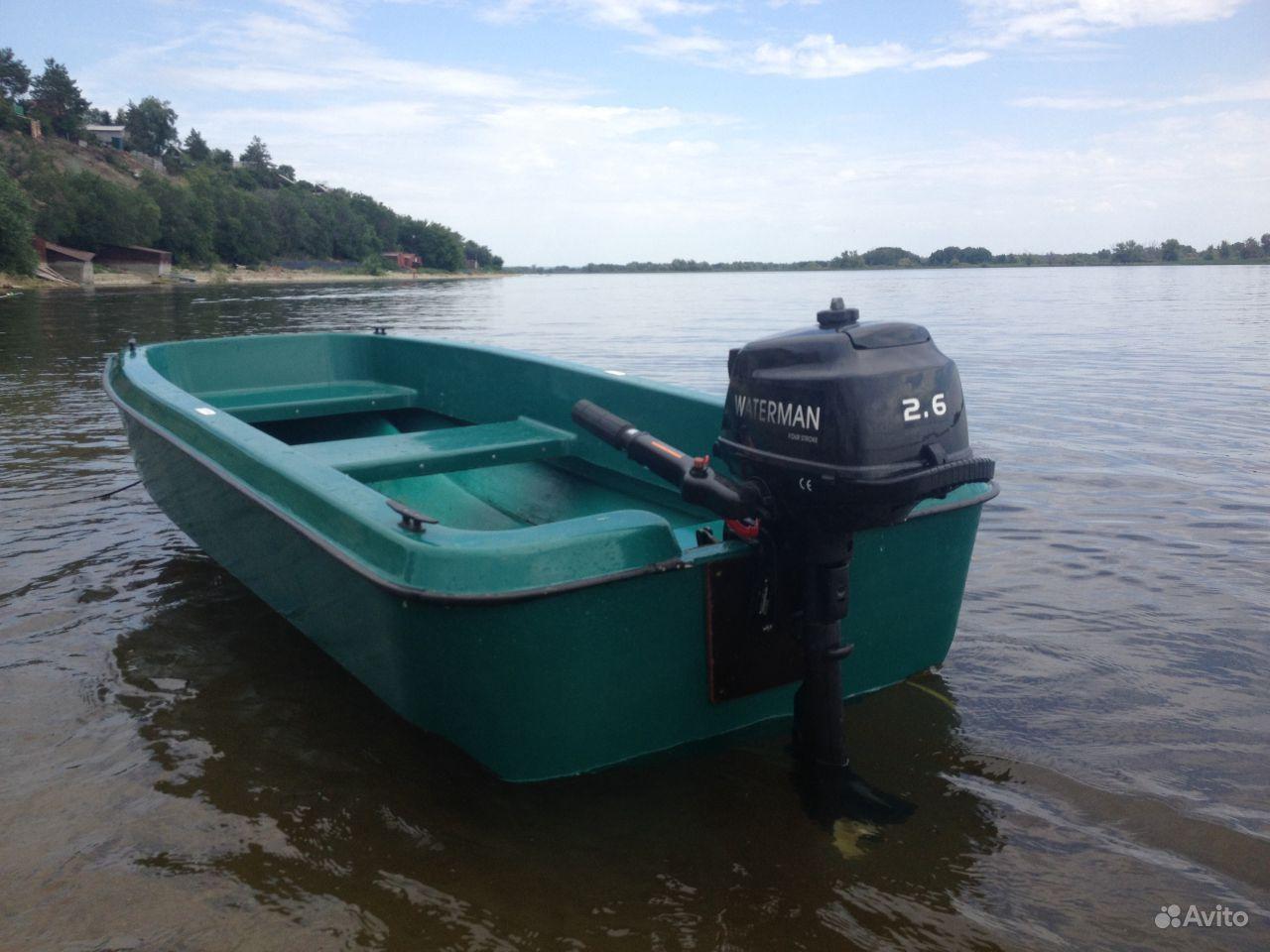 лодка с мотором недорого бу на авито