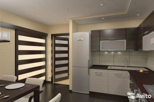 Дизайн кухни типовой квартире