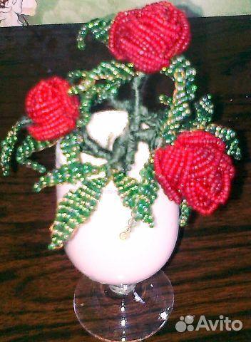 В продаже Цветы из бисера по доступной цене c фотографиями и описанием, продаю в Белгород - Цветы из бисера в разделе...