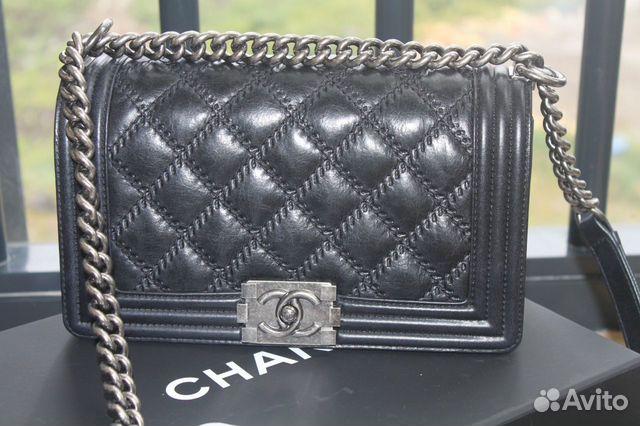 Купить сумку Chanel Шанель Boy на цепочке в интернет