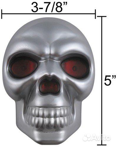 Заглушка в фаркоп череп светодиодные