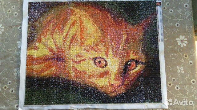 Алмазная вышивка рыжий кот