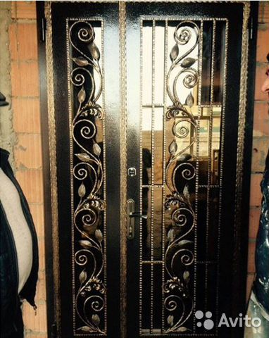 куплю двери входные железные кованые
