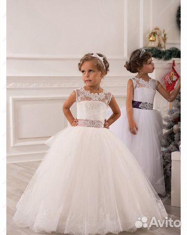 0cf99efc162 Нарядные пышные детские платья в пол. арт 4741