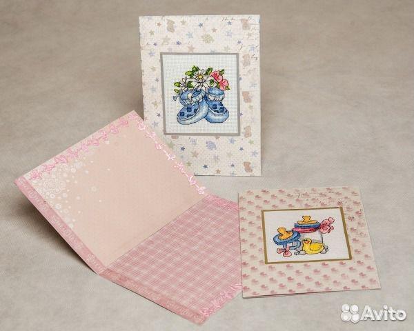 Добрая, открытки для новорожденных с вышивкой
