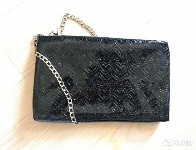 253f36224372 Mary Kay сумка клатч черная с сердцами на цепочке купить в Москве на ...