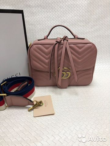 Кожаная сумка Gucci Marmont   Festima.Ru - Мониторинг объявлений d8bca02b010