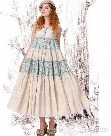 d452d734ecd Ярусное платье из хлопка и шитья Artka бохо купить в Москве на Avito ...