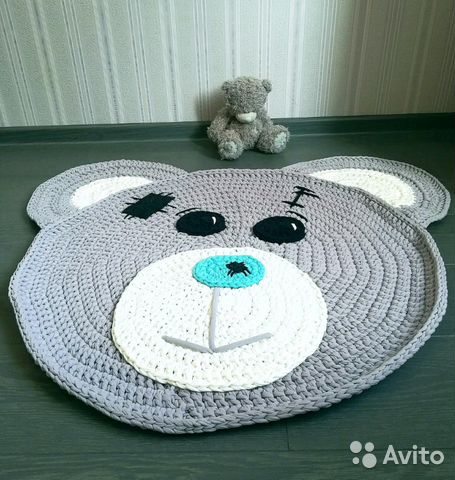 вязаный коврик мишка тедди Festimaru мониторинг объявлений