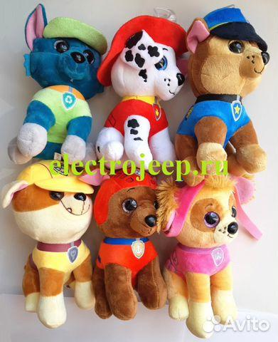 Фотография щенячий патруль мягкие игрушки