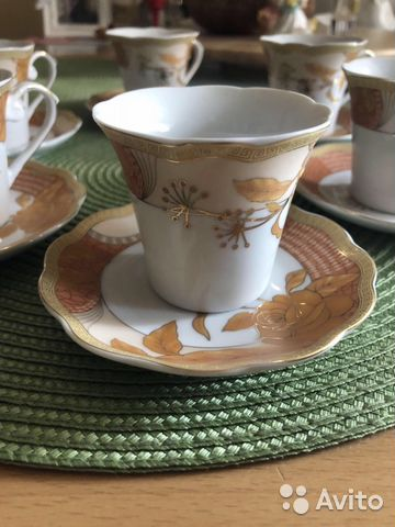 Сервиз кофейный (6 пар, новый)