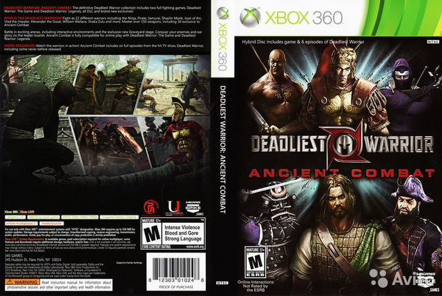 deadliest warrior ancient combat для хbox360 пр купить в