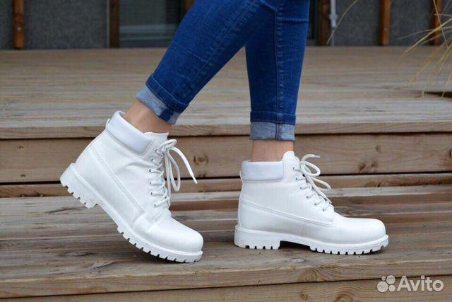 Ботинки Timberland White  f26a2bf463c38