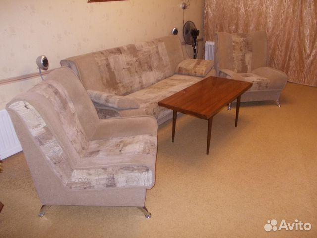 мягкий уголок диван кровать 2 кресла журнстол Festimaru