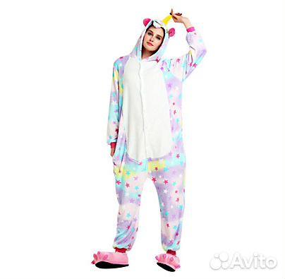 Кигуруми пижама звёздный Единорог купить в Москве на Avito ... 03f0fa0221de6