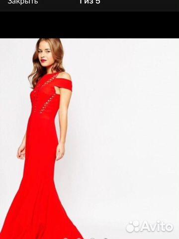 f6c61dbb5b7 Красное платье в пол ASOS