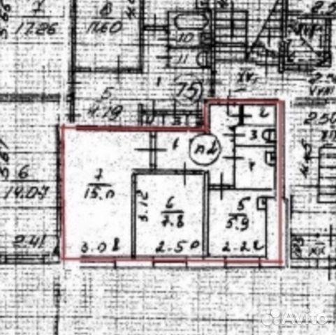 Продается двухкомнатная квартира за 1 350 000 рублей. Нижегородская обл, г Дзержинск, пр-кт Ленинского Комсомола, д 32.