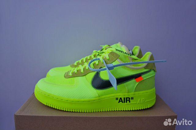 458da6bc Кислотные кроссовки Nike x Off-White Air Force 1 купить в Москве на ...