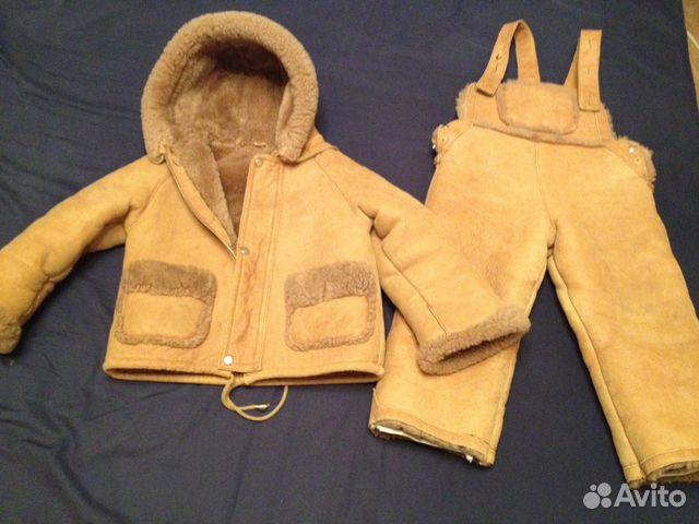 Дубленка детская (куртка и полукомбез) 89272759900 купить 1