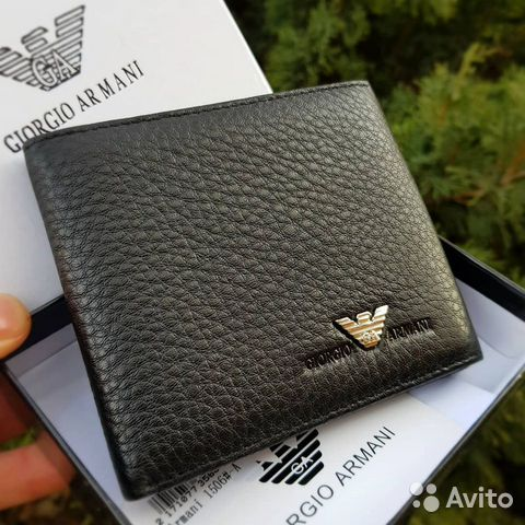 aae01af1ecea Бумажник Armani мужской кошелек