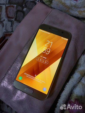 Телефон Samsung А5 (2017) gold  89045848954 купить 1