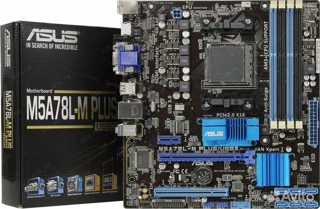 Материнская плата asus M5A78L-M/USB3 SocketAM3+  купить 1