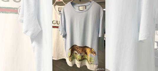 Футболка Gucci с тигром (картина) 2018 SS купить в Москве на Avito —  Объявления на сайте Авито 2edc8dd4fa0