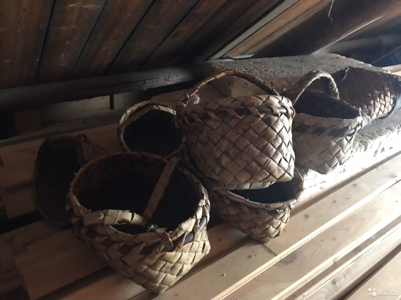 Старые чемоданы, корзины  89115786658 купить 1