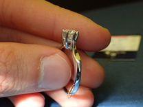 Золотое кольцо с бриллиантом 0.56 карат