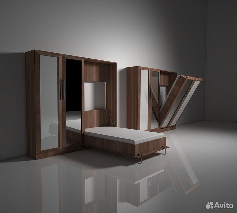 Подъемная откидная шкаф кровать трансформер К-7