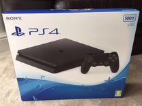 Sony PS4 Slim 500Гб Ростест. В упаковке + игра