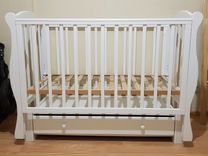 Кроватка «Кубаночка - 6» (Продольный) с матрасом