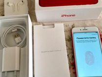 iPhone 7 red 128gb полная комплектация, идеальный