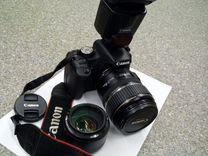 Зеркальный фотоаппарат Canon 500D, Canon 430EXii+ — Фототехника в Москве