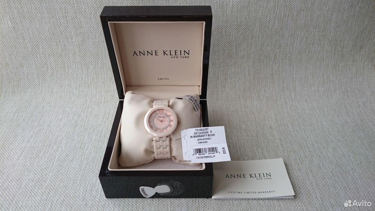 89525003388  Новые Женские часы Anne Klein Розовая Керамика